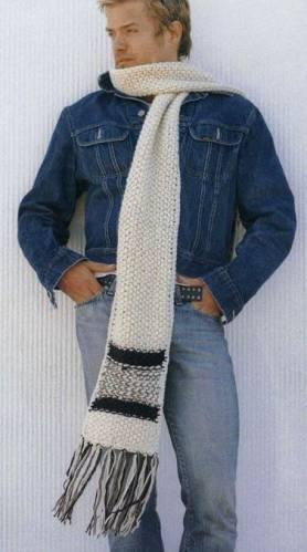мужской шарф крючком или спицами мастер-класс.